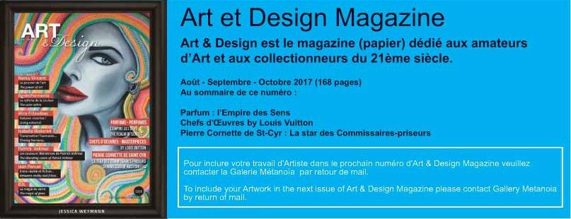 D couvrir art design magazine galerie m tano a for Art et decoration magazine abonnement